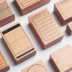 Tagebuch Holz Custom Gummi Briefmarken Scrapbooking, Hintergrund Stempel für Memo Aufgabe Überprüfen Rekord Halten