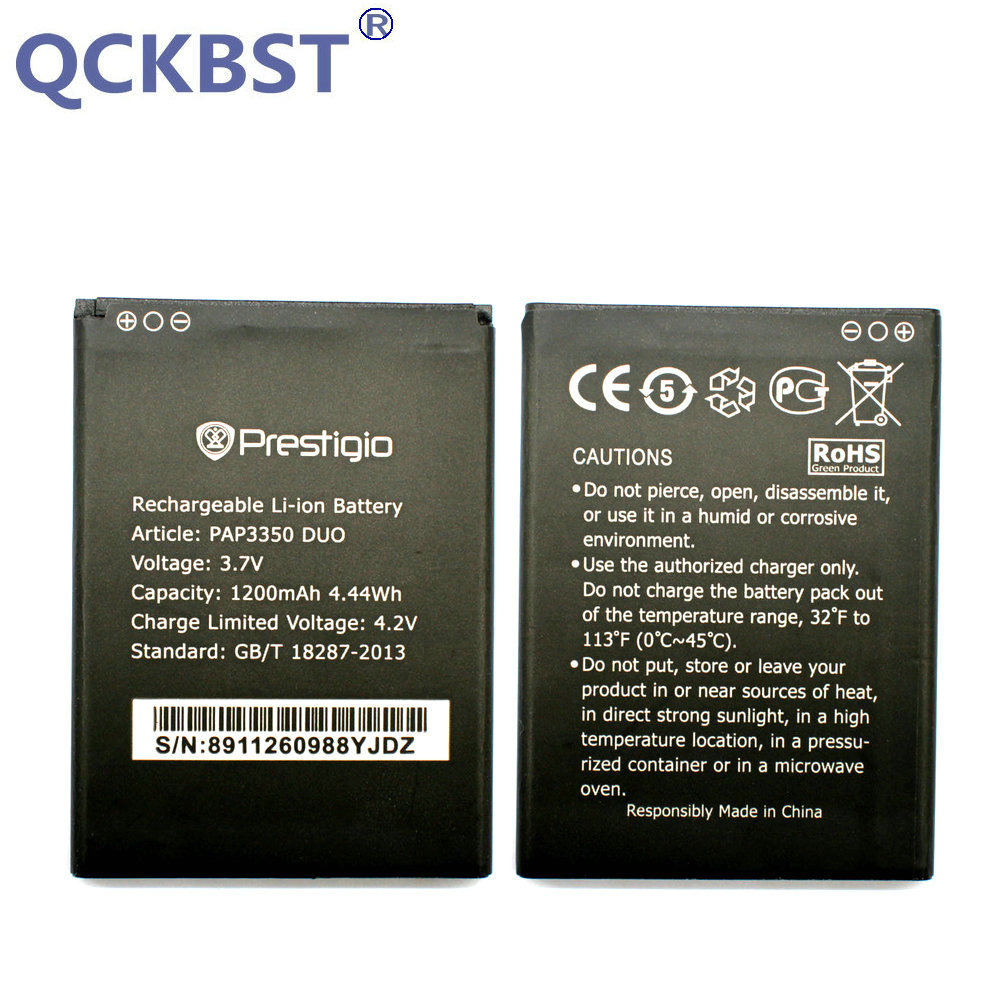 QCKBST 1200mAh High Quality Replacement Batteries For Prestigio MultiPhone PAP3350 DUO PAP 3350 Phone In stock Tracking code