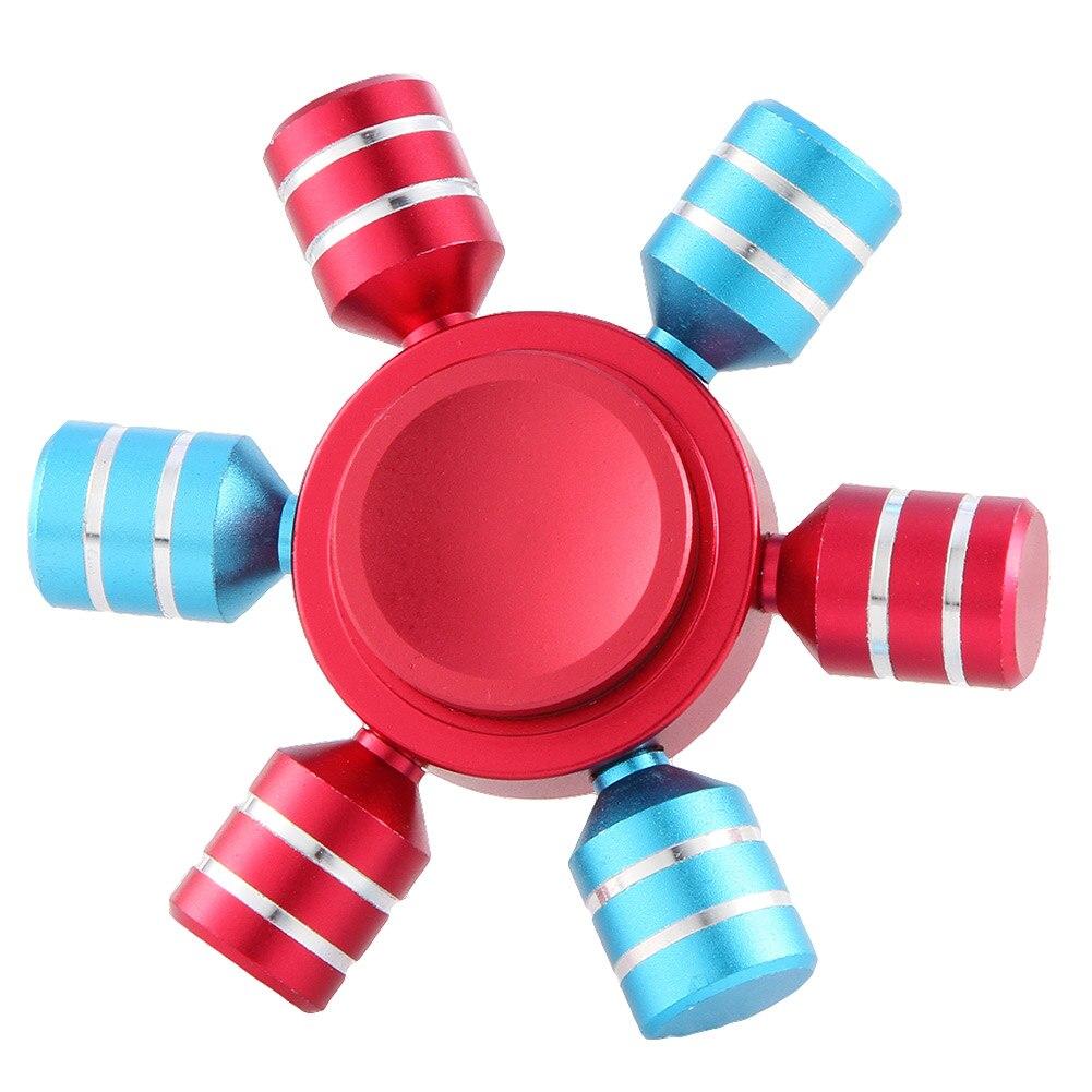 1 Pcs Colorful Hand Spinner Fidget Six Arm Rudder Ferris Wheel Finger EDC Gyroscope Focus Anti Stress Adult Kids Gifts Toy