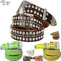 Women's strap fashion rhinestone Women diamond genuine leather women's belt cowhide quality full rhinestone waist belt