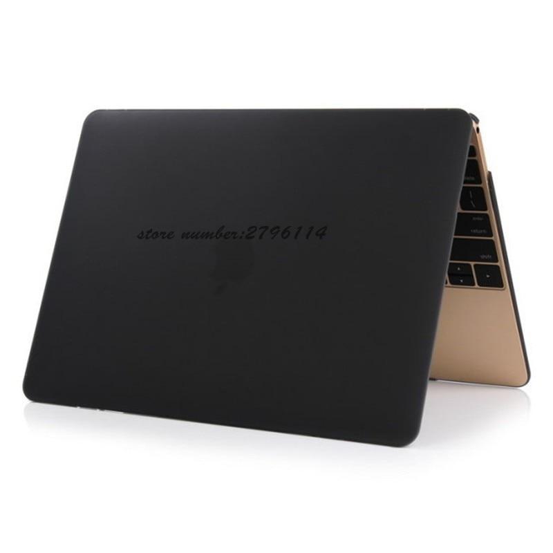 2017 colour black matter Case For Apple Macbook Air Pro Retina 11 12 13 15 Laptop Cover Bag For Mac book 13.3 inch