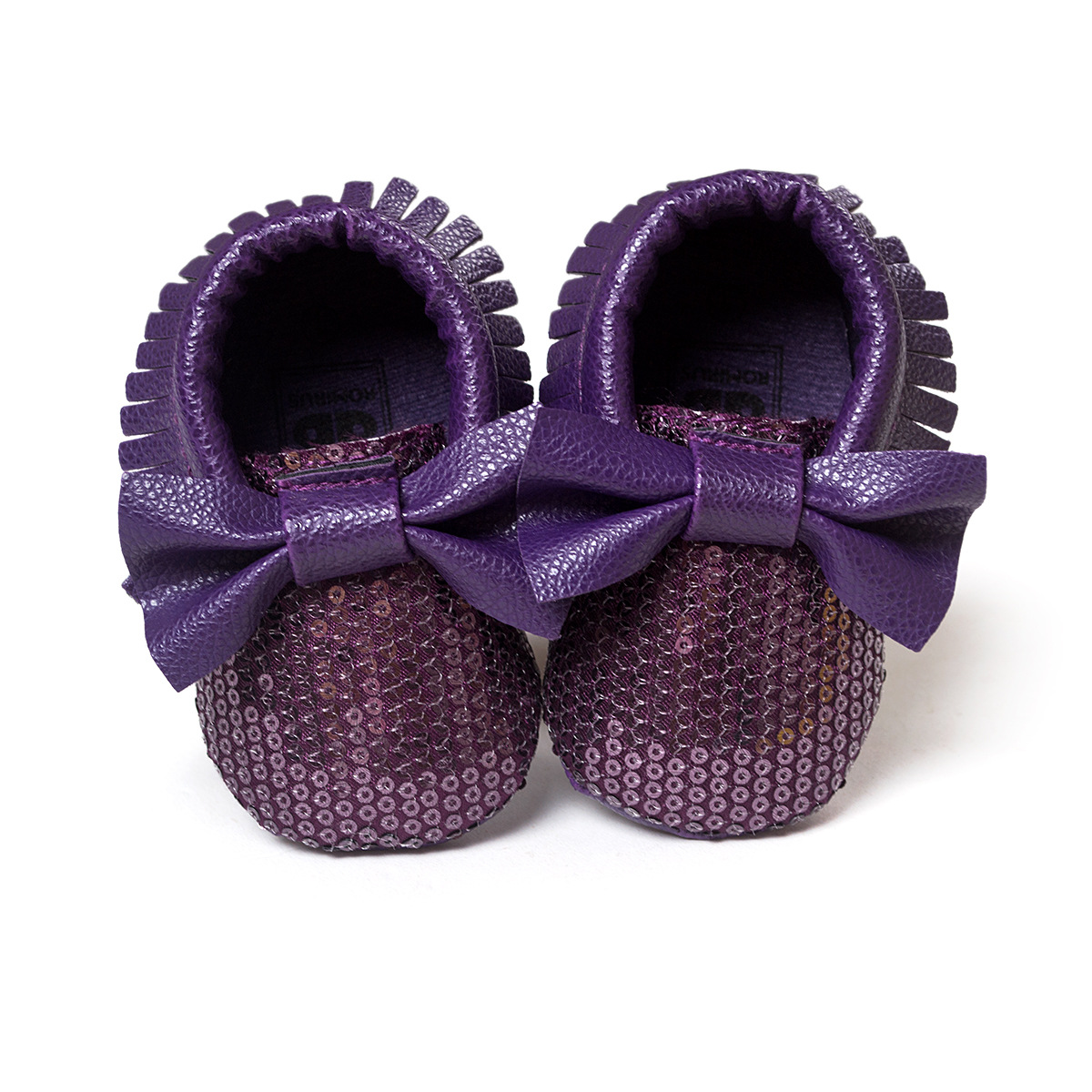 ᗜ LjഃArco púrpura Zapatos de bebé niños chica cuero Zapatos pu ...