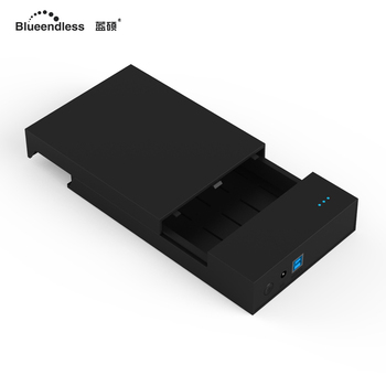 Blueendless 2020 3.5' HDD USB Hard Disk Enclosure Plastic USB 12V 2A Caddy Box for Computador External Hard Drive Disco Duro&30