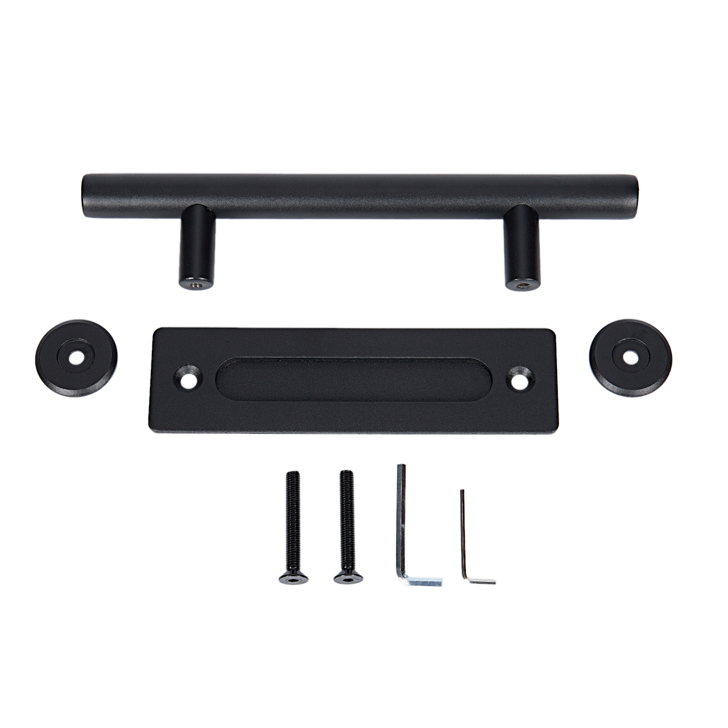 BIFI-Sliding door fittings Barn door hardware sliding door sliding door double-sided handle 12 inch,BlackBIFI-Sliding door fittings Barn door hardware sliding door sliding door double-sided handle 12 inch,Black