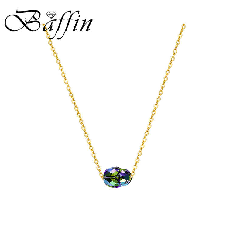 BAFFIN Retro Powerful Scarab Bead Necklaces Pendant Crystals From Swarovski Gold Color Chain Collars For Women Men Accessories