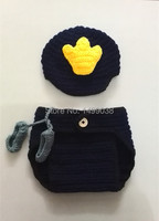 Navy Sailor Style Rompers Baby Boy Toddlers Hat Navy Costume Baby For Photograph Props
