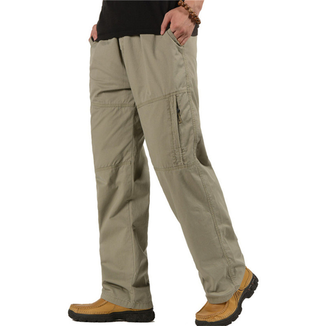 Men's Cargo Pants Casual Loose Military Tactical Pants Multi-Pocket Overall Sporting Baggy Male Long Trousers Plus Size 5XL 6XL 4