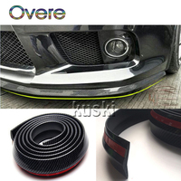 Overe 1Set Auto Car Front Chin Spoiler Carbon Stickers For Renault Megane 3 Duster Captur Chevrolet Cruze Aveo Captiva Lacetti
