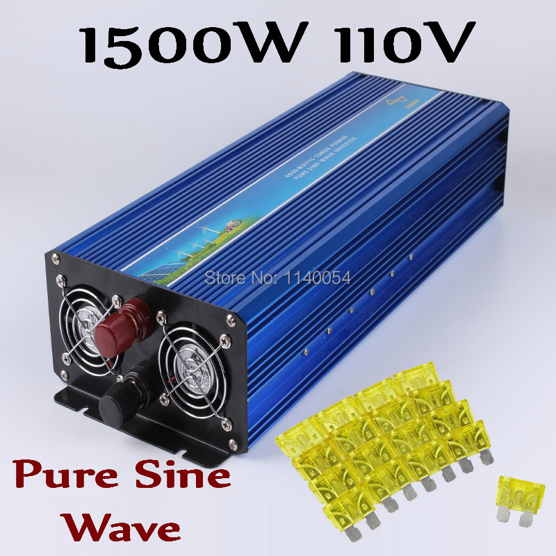 HOT SALE!! 1500W Off Grid Inverter Pure Sine Wave Inverter DC110V with 3000W Surge Power, Solar Wind Power Inverter 1500W 6000w off grid inverter pure sine wave inverter 110v dc input solar wind power system inverter 6000w with 12000w surge power