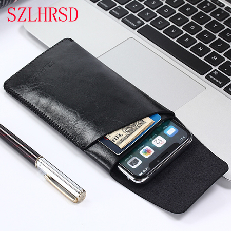 for iPhone Xs Max super slim sleeve cover for iPhone 11 Pro Max Leather case Core Phone bag for Galaxy Note10 Plus note9 s10 s9