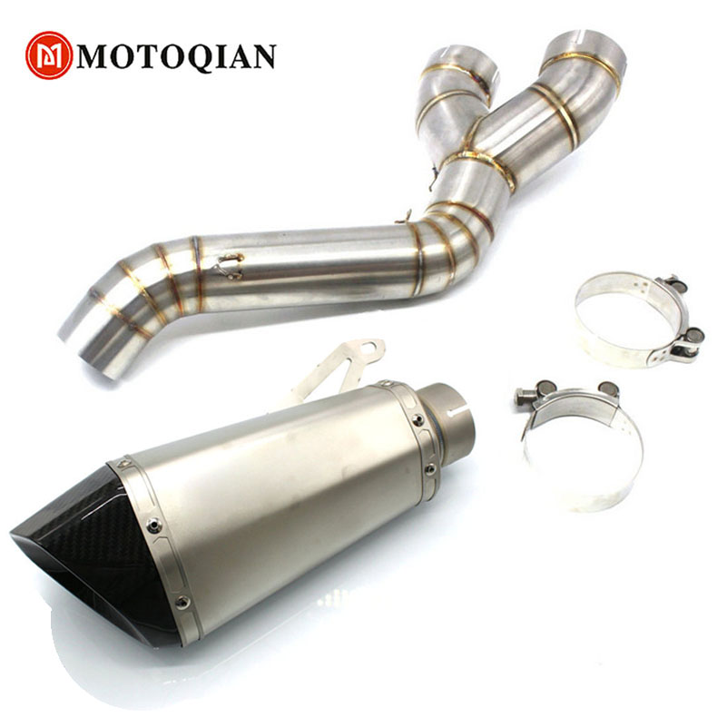 60MM Motorcycle For BMW S1000RR S1000 RR S1000R Carbon Fiber Exhaust Pipe Muffler Slip On Exhaust