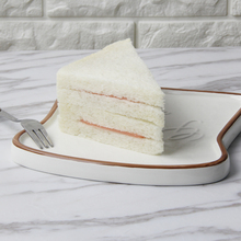 Best 6.5 Inch Creative Toast Shape Ceramic Dinner Plate
