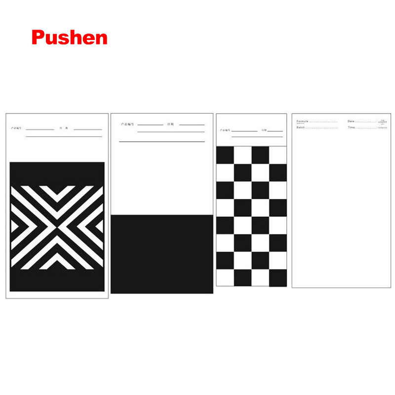 BRAND PUSHEN Opacity Display Charts Hiding Power Test Board Printing Ink Drawdown Sheets black white paper card  paints 1 design laser cut white elegant pattern west cowboy style vintage wedding invitations card kit blank paper printing invitation