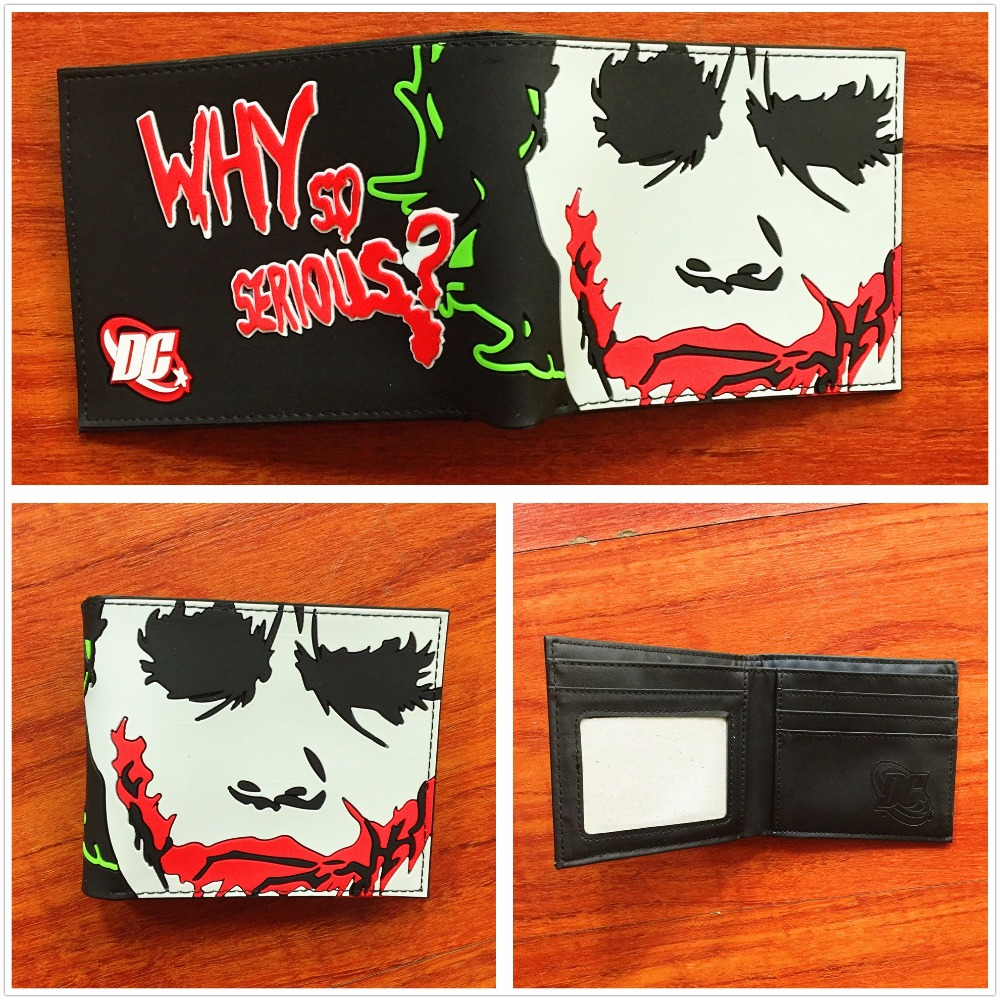 New Arrival DC Comics Wallet Why So Serious purse high quality short Wallet folding credit card purse W714Q