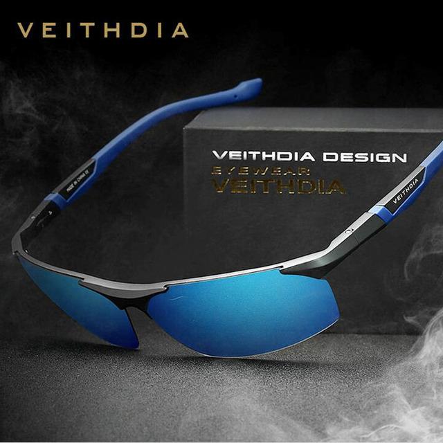 Veithdia nueva moda gafas de sol hombres conducción pesca polarizadas de ojos Protect Sun gafas gafas de sol 6589