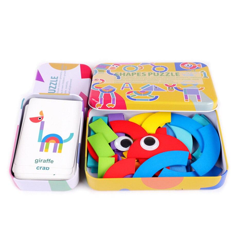 Montessori Woodentoys Puzzle jouet jeux éducatifs Edition astucieuse amusant bébé jouets d'apprentissage précoce développer l'intelligence des enfants