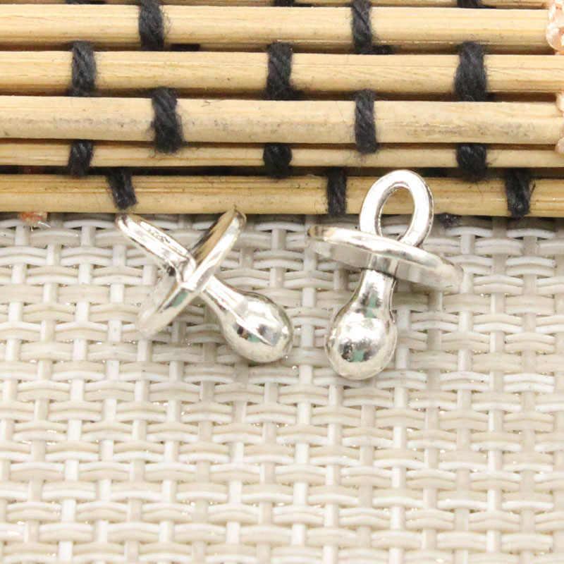 10pcs Charms Baby Pacifier Binky Teether 13x10x10mm Tibetan Silver Color Pendants Antique Jewelry Making DIY Handmade Craft
