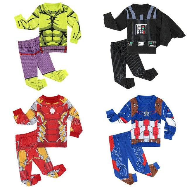 70c3e6f966a1 Детская пижама для мальчиков, Мстители, супер герои комиксов, наборы пижам,  размер 2