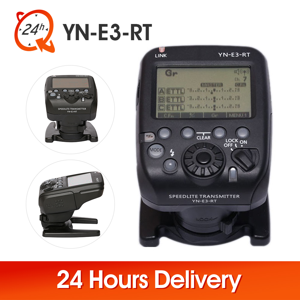YONGNUO Wireless YN-E3-RT Flash Speedlite Transmitter Trigger Controller For Canon 600EX-RT YN-600EX-RT As ST-E3-RT 100% New yongnuo yn e3 rt ttl radio trigger speedlite transmitter as st e3 rt compatible with yongnuo yn600ex rt