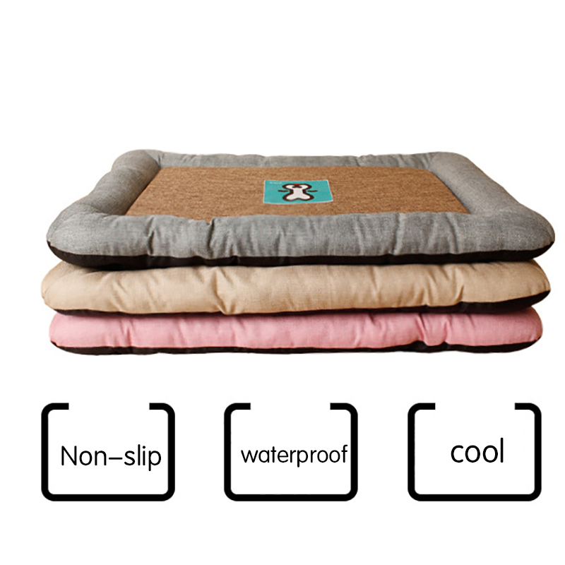 2017 Summer Dog Cat Ice Mat Cat Dog Pad For Kennels Crates And Beds Comfortable Linen Pet Mat For Keeping Cool