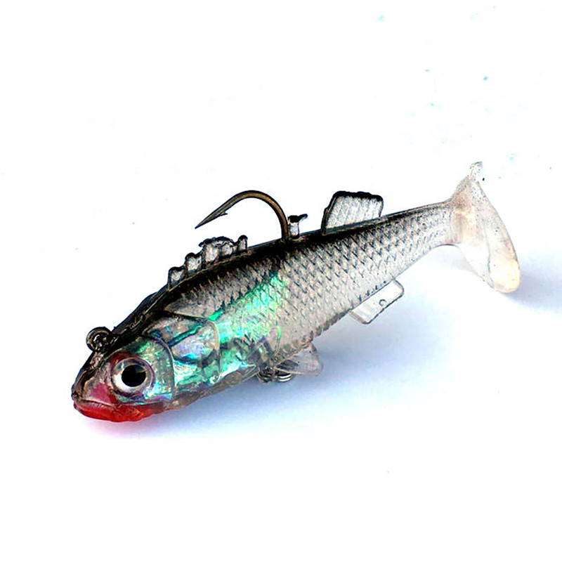 Dynamic 3D Eyes Lead Fishing Lures Artificial bait Carp Crank bait with Treble Tackle Hooks Good Outdoor 2017 fishing lures 1pcs practical lure cage fishing tackle carp pellet feeder bait cage lures pit device with lead fishing tools