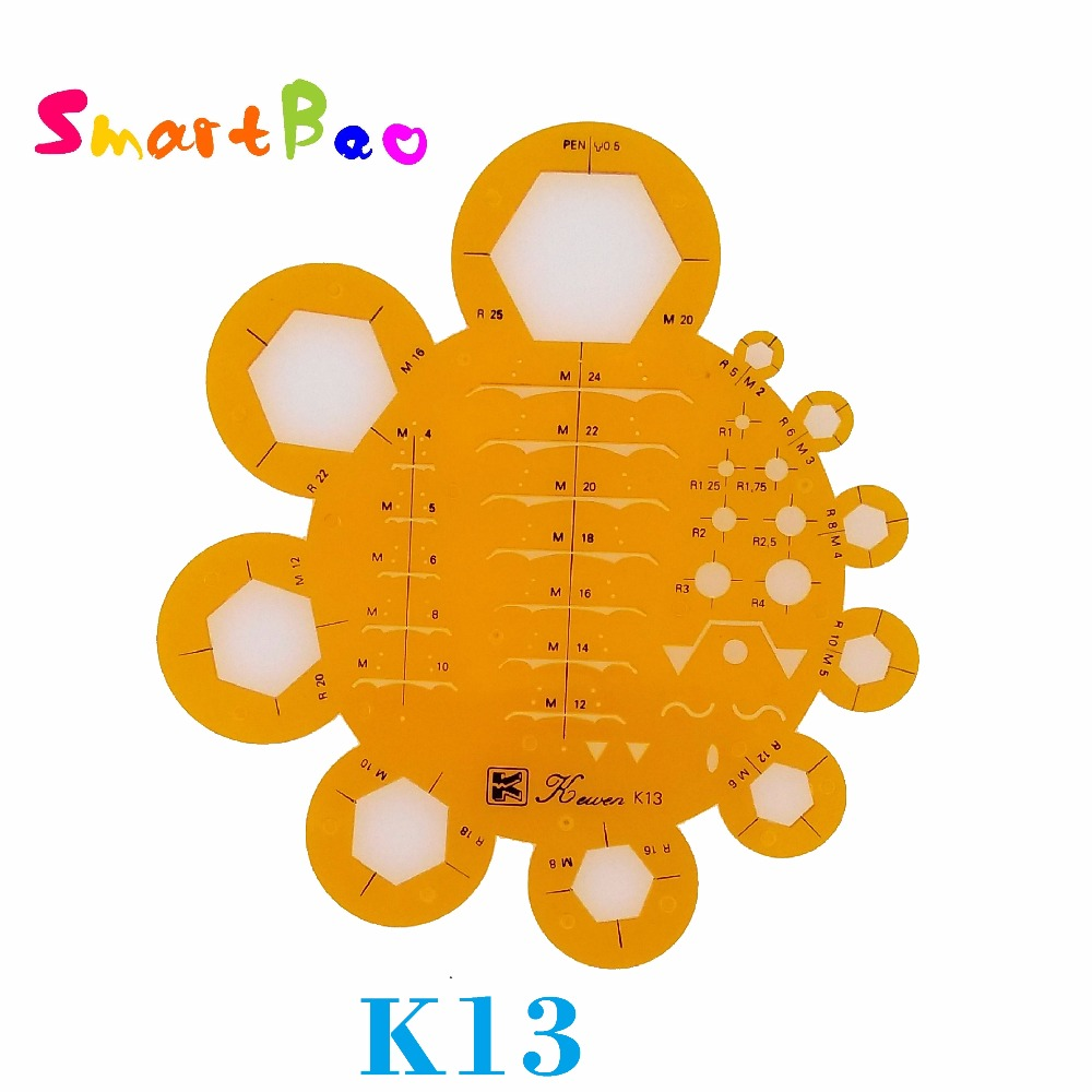 Screw Nut Design Drafting Template K13 For Pen 0.5 ; AliExpress Saver Shipping
