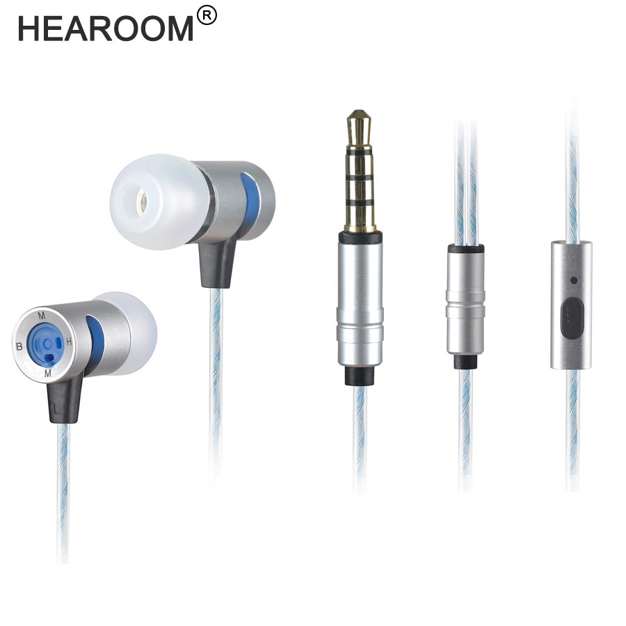 HEADROOM M8 Earphone with Mic HIFI Sports Noise Cancelling Headset Women Man Earplugs Stereo Bass for iPhone 7 xiaomi MP3 Player original kz atr in ear earphone noise cancelling earbuds with mic sports stereo bass hifi headset abs dynamic unit for iphone 7