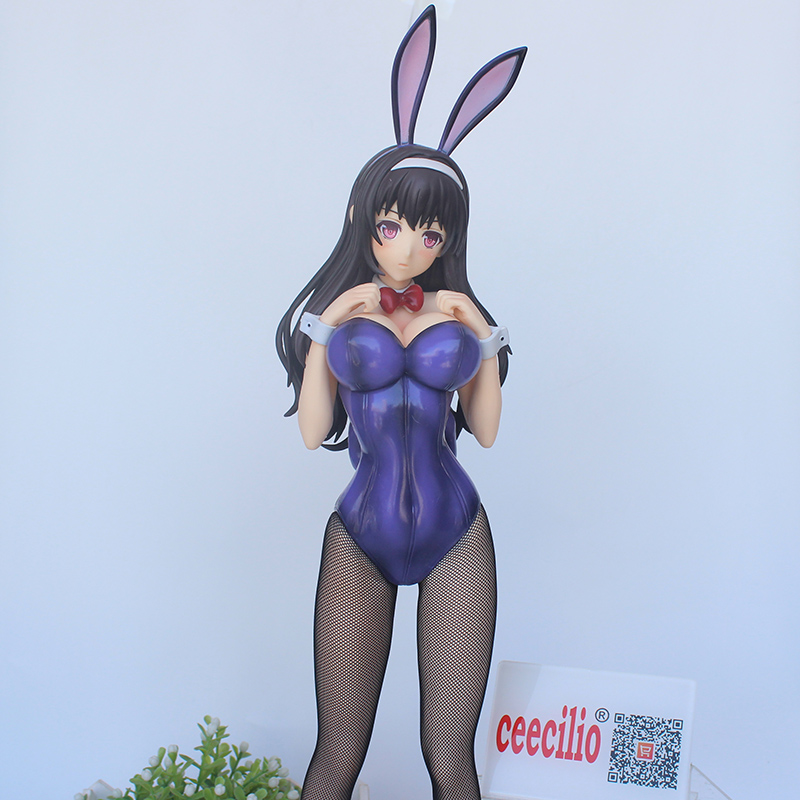 1/4 Anime Saenai Heroine no Sodatekata Sexy Kasumigaoka Utaha bunny girl ver. PVC Collection Model Figure 44cm no box цены