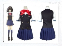 Anime Another Misaki Mei Akazawa Izumi Cosplay Uniform Cosplay Costume Custom made