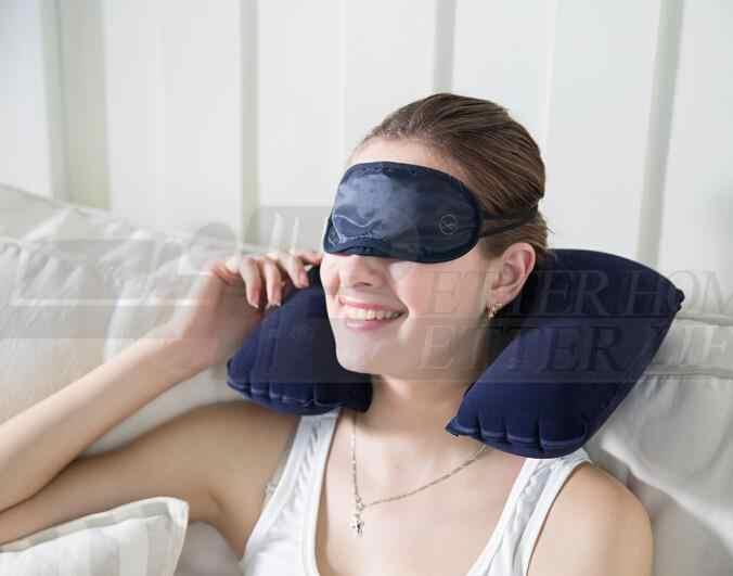 1setCar Air/U cojín de viaje de aire almohada de cuello suave + máscara de ojos + 2 tapones para los oídos búsqueda caliente nueva llegada