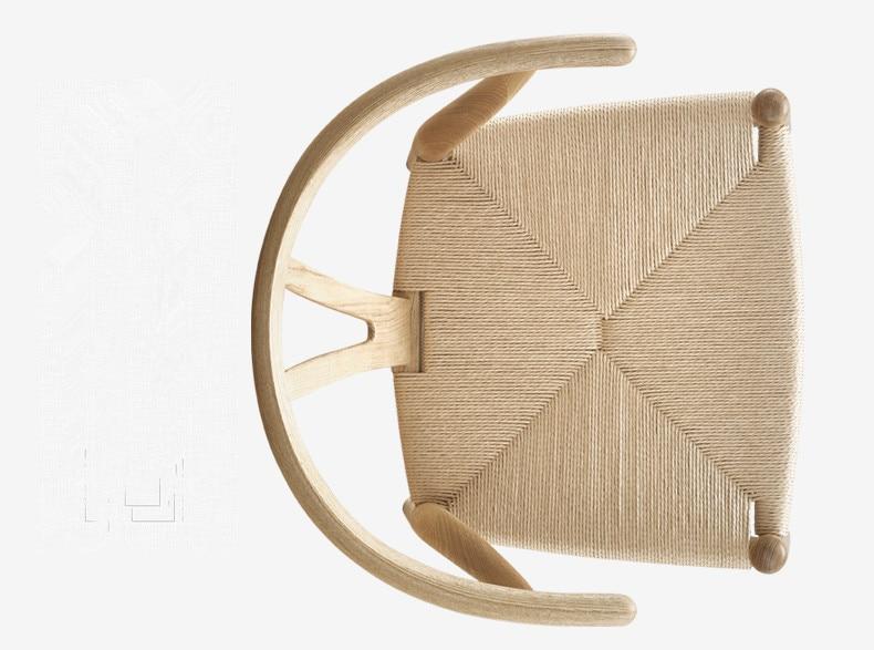 Leseni stol Wishbone Hans Wegner Y Stol Trdni pepel Les Pohištvo za - Pohištvo - Fotografija 4