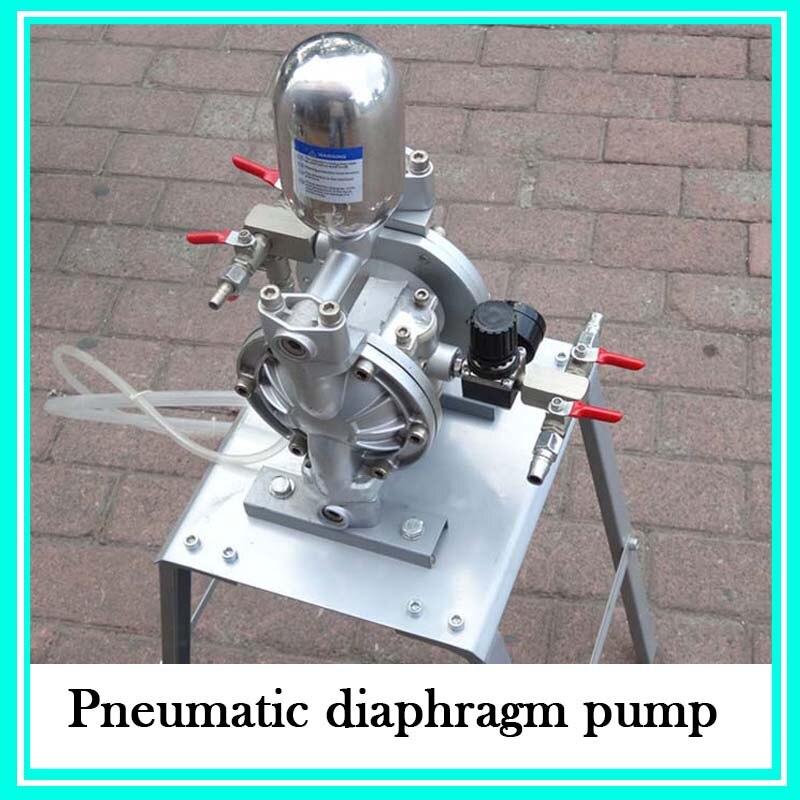 Aluminum Alloy Small Double Way Pneumatic Diaphragm Pump Spraying Suit Diaphragm Paint Pump