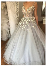 LORIE Boho Wedding Dresses Sweetheart Appliques A Line 3D Flowers Princess Floor Length  Bride Dress Wedding Gown Custom Made