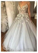 LORIE بوهو فساتين الزفاف الحبيب يزين ألف خط ثلاثية الأبعاد الزهور الأميرة طول الكلمة فستان عروس ثوب زفاف مخصص