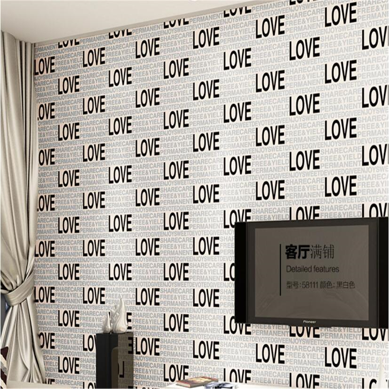 Beibehang Modern 3D Stereo Letter Thicker Wallpaper Bedroom Living Room Kids Room LOVE Warmth Letter 3D Wallpaper mural roll book knowledge power channel creative 3d large mural wallpaper 3d bedroom living room tv backdrop painting wallpaper