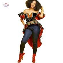 Фотография Summer Dress Bazin Riche African Dresses Women Sleeveless Party Dresses Plus Size Sexy Dress Women African Print Clothes WY1384
