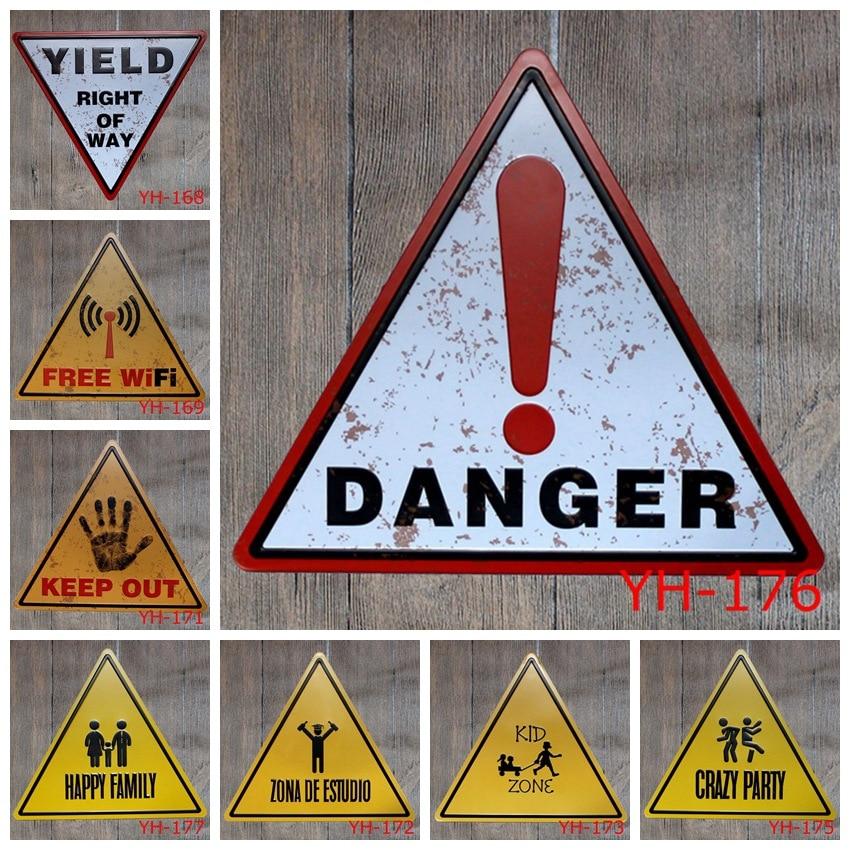 CROCODILE Safety Danger Tin Sign 20 x 30 cm CROCODILE Danger Warning Sign