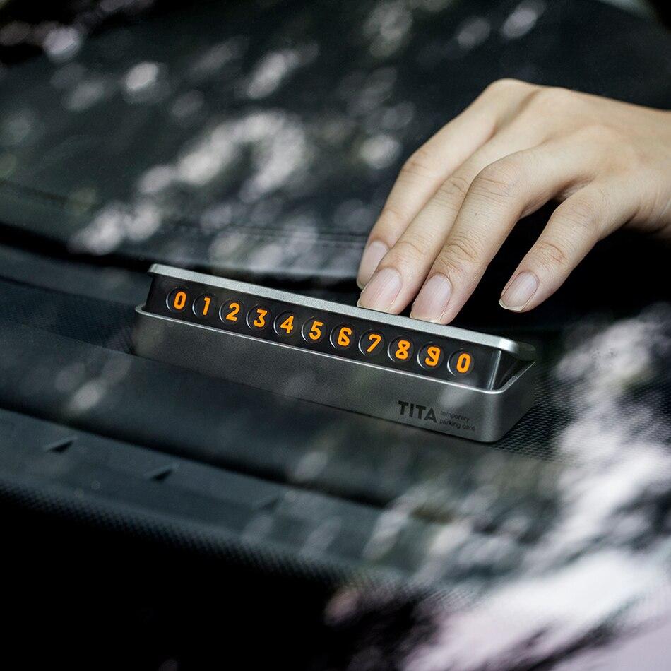 Car temporary parking card hidden luminous phone number card for Cadillac srx cts ats escalade sts dts bls