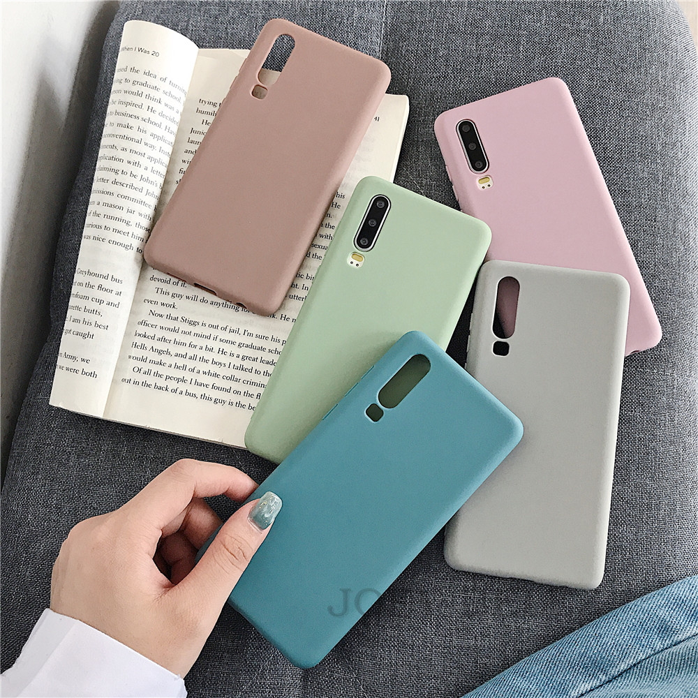 Candy Color Phone Case Cover For Huawei Mate 20 P30 pro Mate 10 20 P10 P20 Pro Nova 3 2s Honor 9 10 8X Y7 Soft Back Case fundas 13