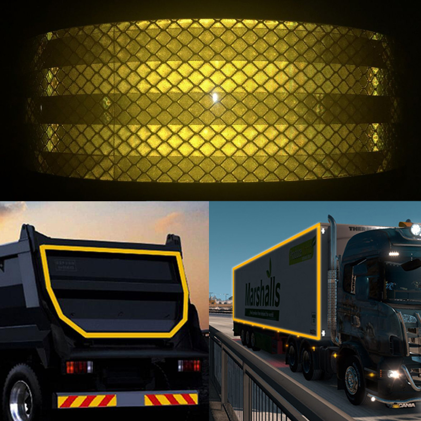 50mm X25m  Reflective Car Stickers Adhesive Tape For Car Safety