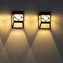 Hot Solar Retro Wall Lamp Led Pane Light