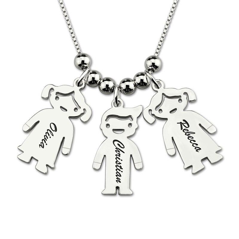 Restdeals.com:Engraved Kids Charm Necklace Sterling Silver