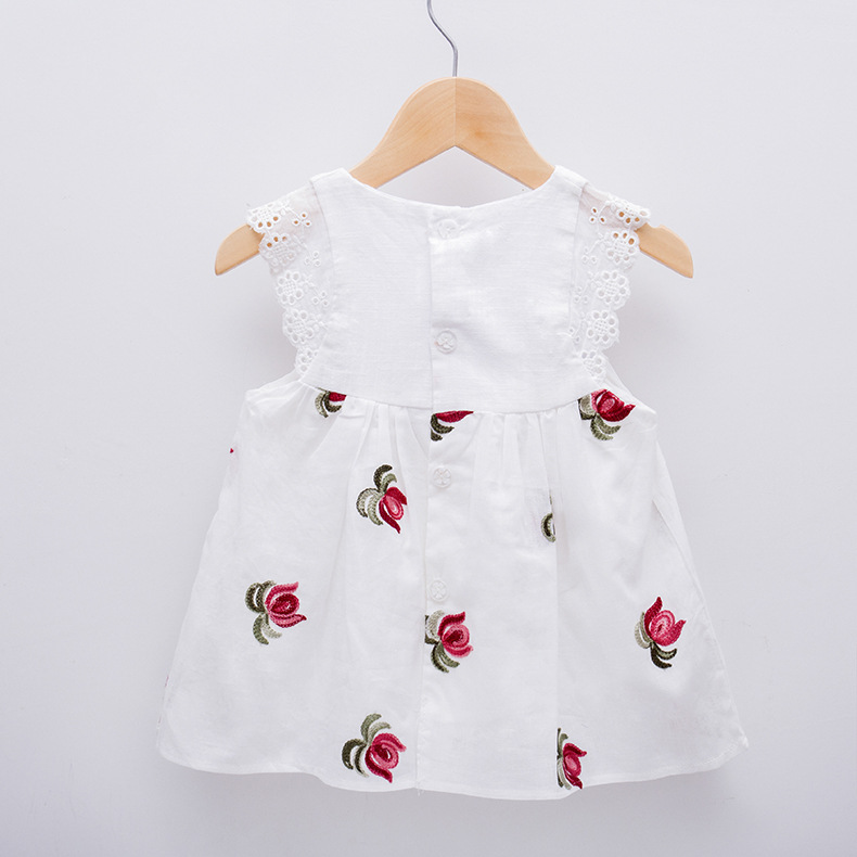 Koronkowe rękawy Dziewczynek sukienki Dekoracje kwiatowe Noworodek - Odzież dla niemowląt - Zdjęcie 2