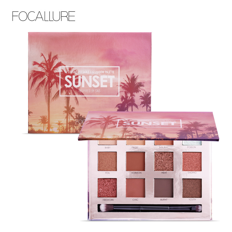 FOCALLURE Eyeshadow Palette 12 Colors Makeup Eye Shadow Matte Shimmer Shining Nude Make up Glitter Pigment beauty glazed makeup eyeshadow palette glitter diamond pigment glitter shimmer make up eye shadow sombra paleta de sombra