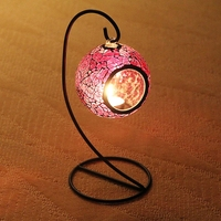 Purple Color Hanging Lantern Mosaic Tealight Candle Holders Candle Lantern For Wedding Centre Party Home Decor
