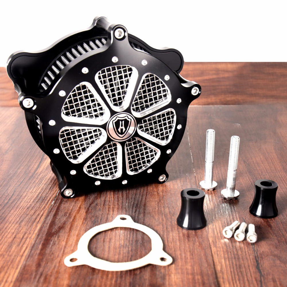 Shallow Cut Air Cleaner Kit For Harley Touring Electra Glide Street Glide Road King FLH/T FLHX FLHR 2017-2018 Models air deflector trims for harley electra glide road king street glide flhx electra glide 2009 2010 11 12 13 14 15 2016