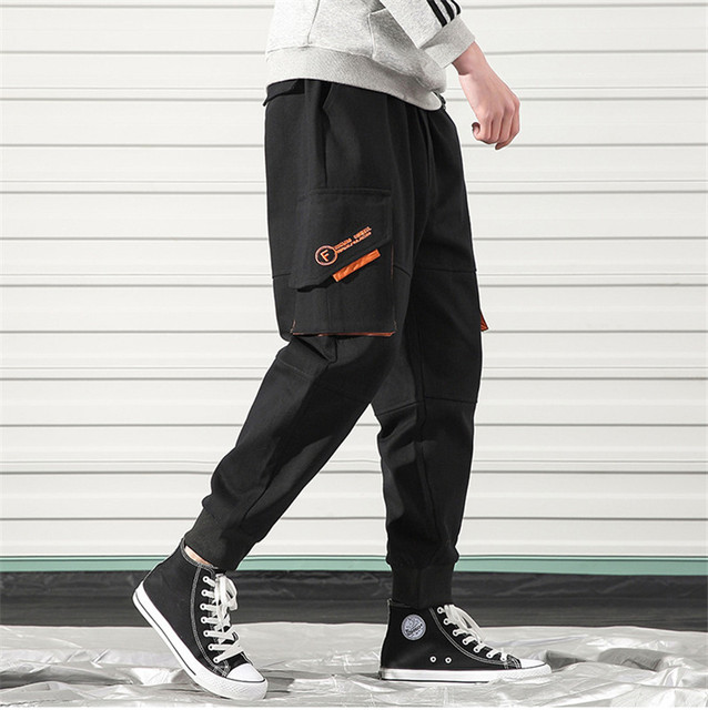 Cargo Pants Men 2019 Hip Hop Streetwear Joggers Pants Men Trousers Sweatpant Pockets Casual Sports Camouflage Korean Style Pants