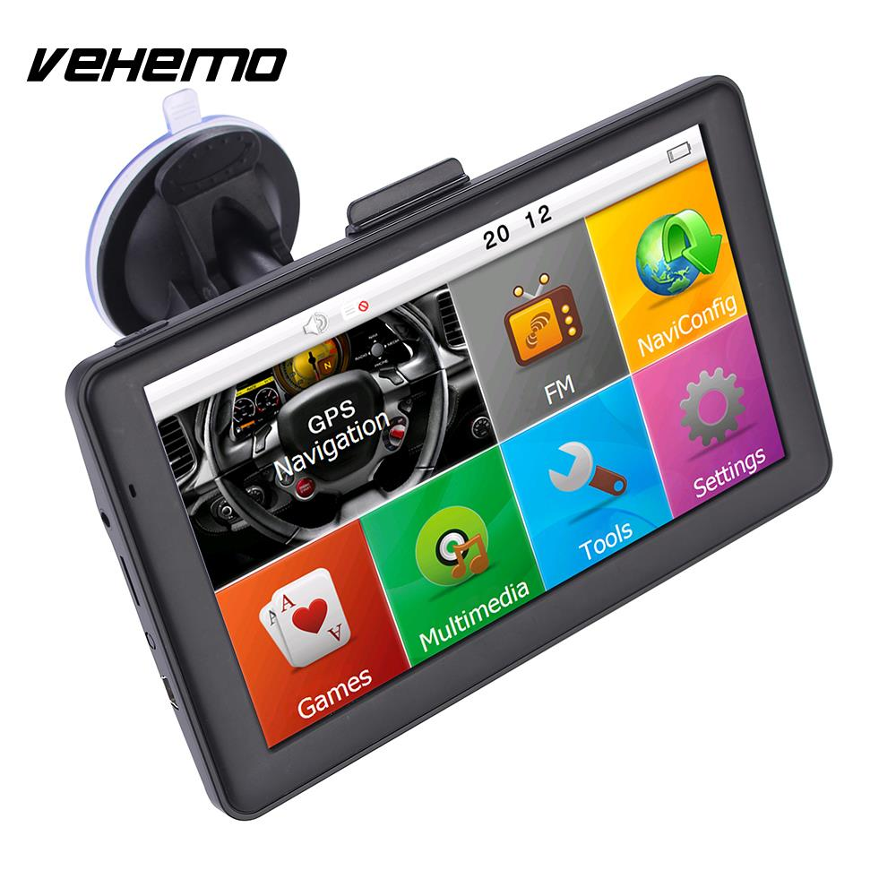 Vehemo Auto Navigator GPS Navigator Car GPS Navigation 7Inch 8GB Premium TFT LCD 800MHZ Automobile Video Universal visconti vs 205 52