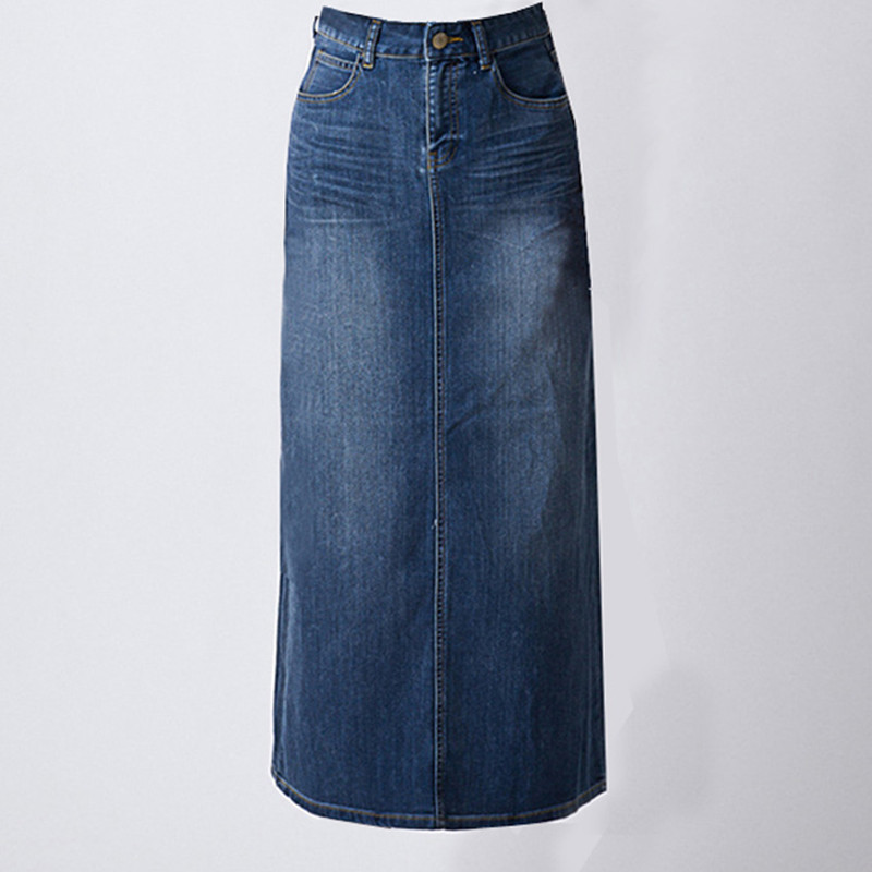 Popular Plus Size Denim Skirts Long-Buy Cheap Plus Size Denim ...