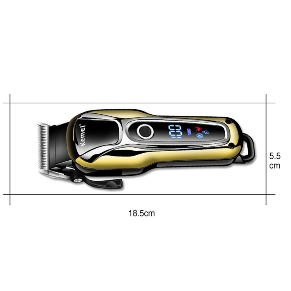 Image 2 - Turbo Professional hair clipper rechargeable hair trimmer for men electric cutter hair cutting machine haircut LCD cordless cordrechargeable hair trimmerhair trimmertrimmer for men -